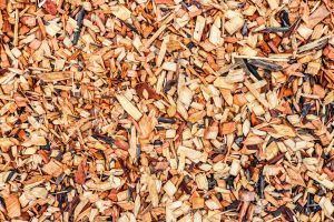Some mulch for the backyard playground.