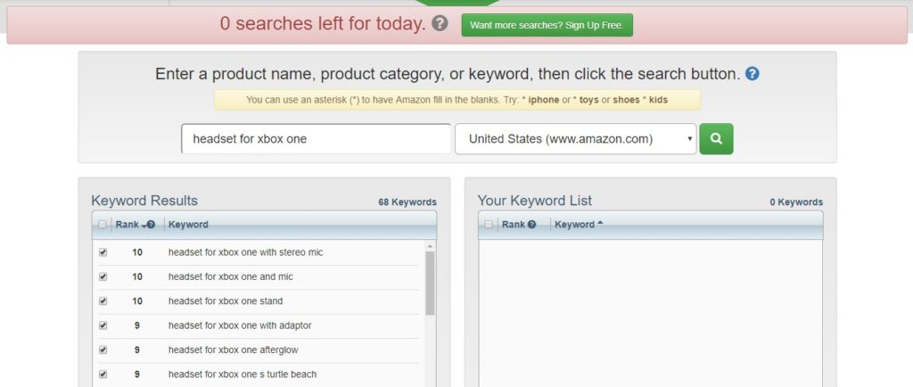 keyword tool domination