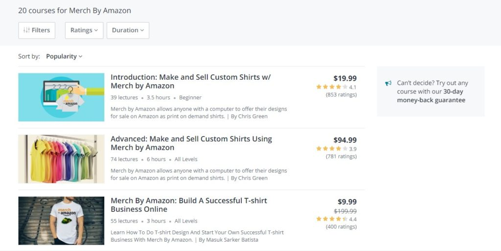 merch by amazon course
