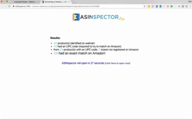 Reverse Search - ASINspector Results