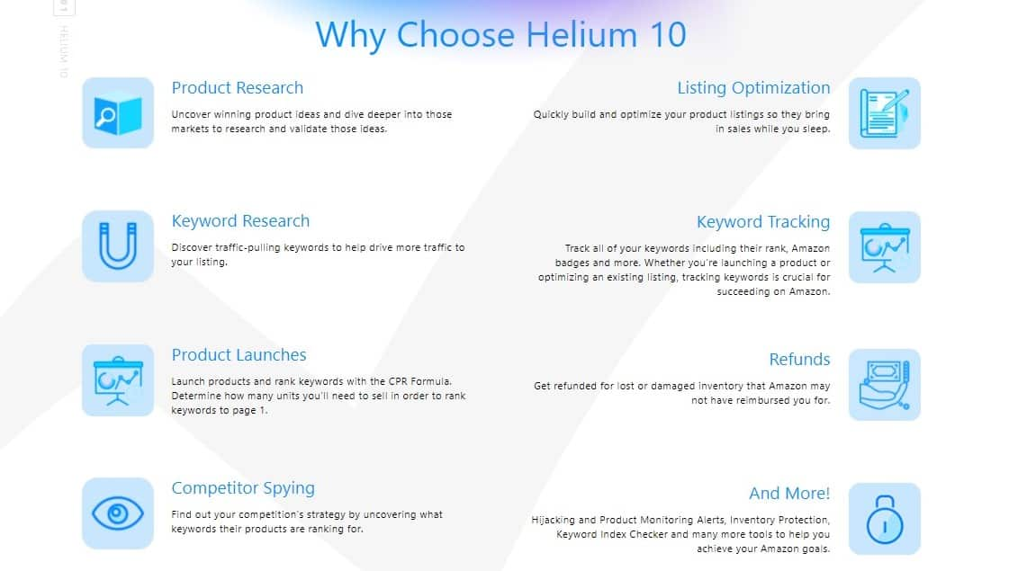 helium 10 features